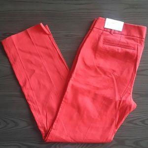 NWT Ann Taylor LOFT Marisa Straight red Pants